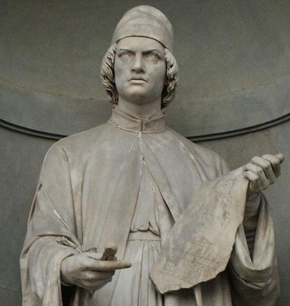 Statua raffigurante Leon Battista Alberti